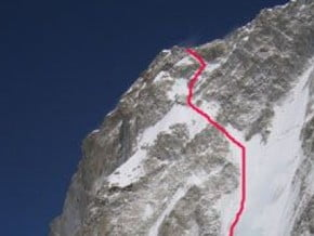 Image of West Face, Chomo Lonzo (7 790 m / 25 558 ft)